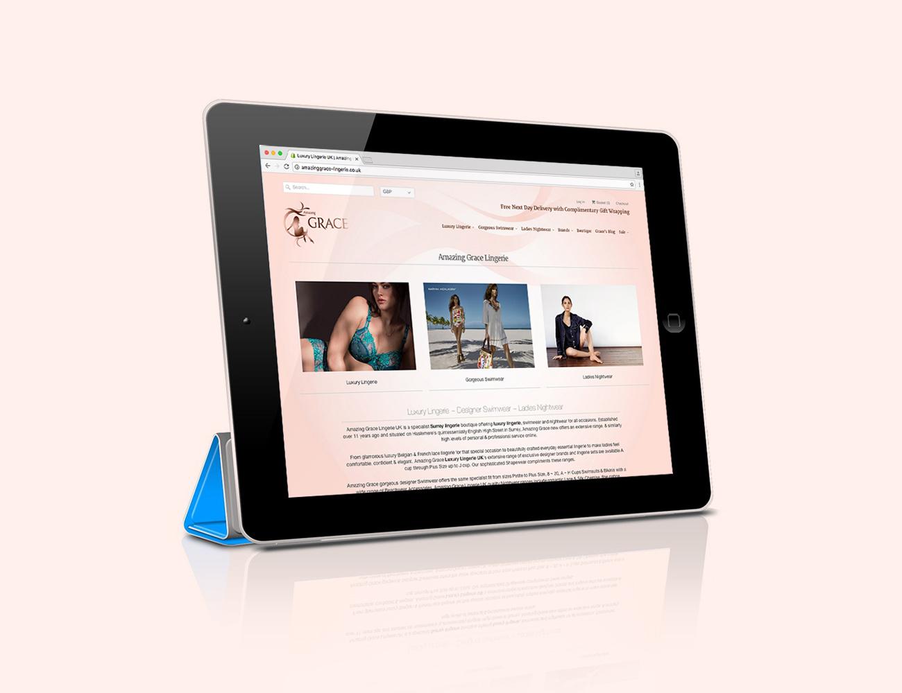 E-commerce website for Amazing Grace