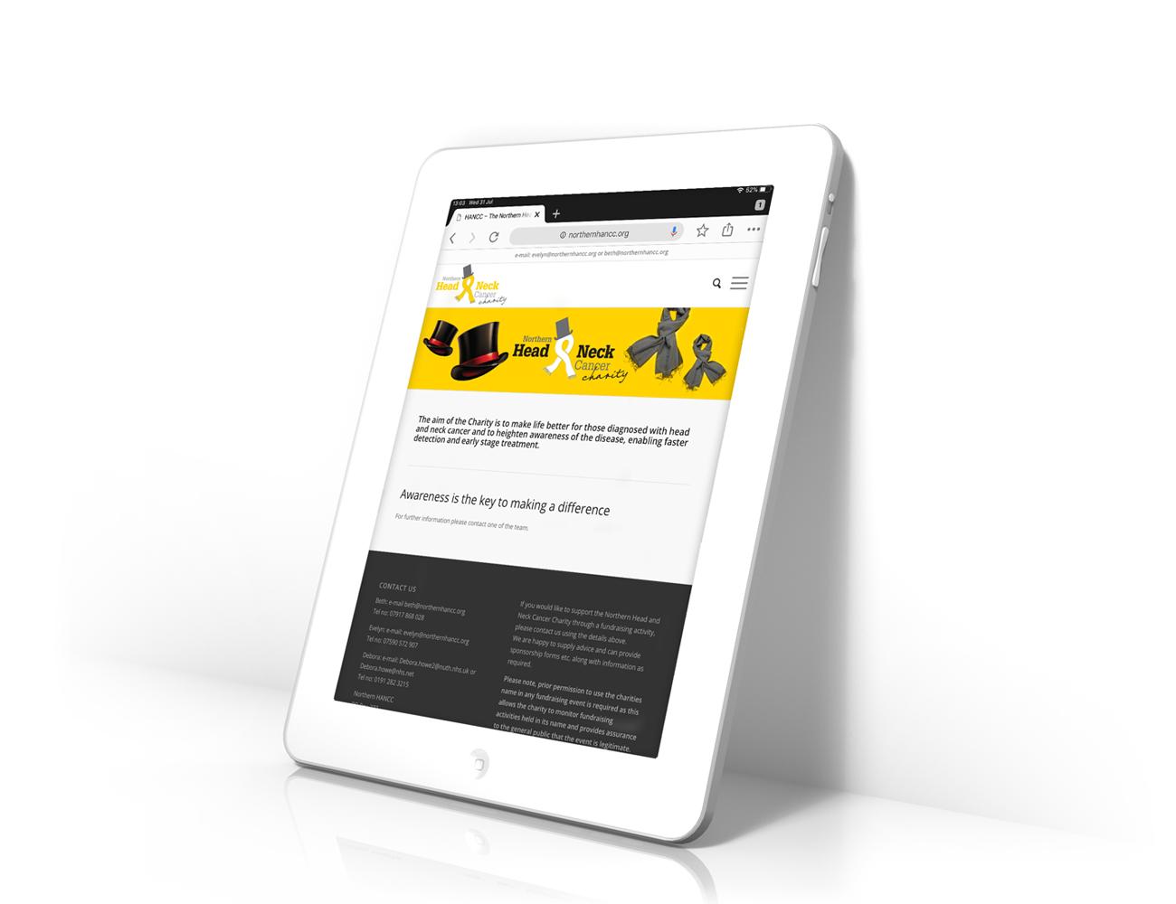 Website design for HANCC