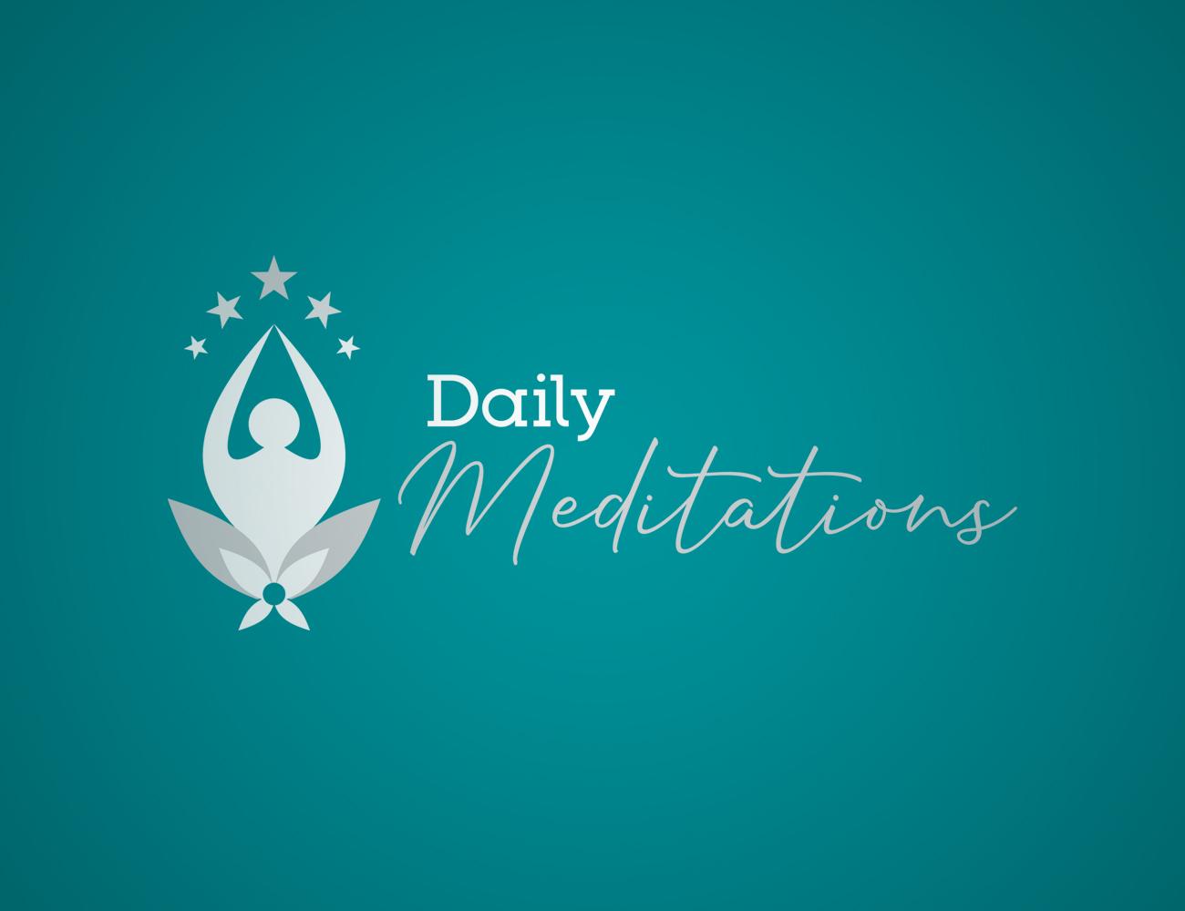 Daily Meditations logo design